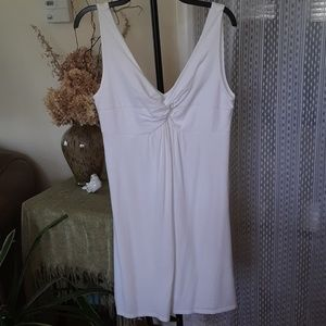 Loft white knit dress, size medium